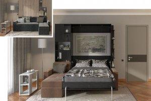 Кровать-шкаф подъемная 62 - Мебельная фабрика «Уют сервис»