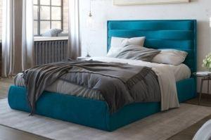 Кровать синяя мягкая Оушен - Мебельная фабрика «Sensor Sleep»