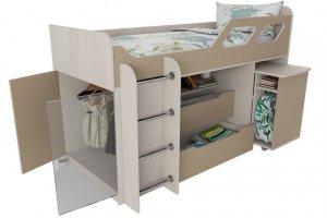 Кровать со столом и шкафом Вега 4 - Мебельная фабрика «Квадрат»