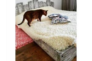Кровать спальная Амбарный стиль - Мебельная фабрика «Массив»