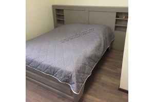 Кровать спальная изголовье с полками - Мебельная фабрика «ДИЗАЙН МЕБЕЛЬ»