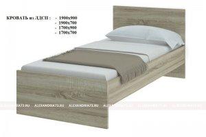 Кровать спальная ЛДСП - Мебельная фабрика «Александрия»