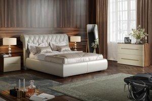 Кровать спальная белая Notte - Мебельная фабрика «Möbel&zeit»
