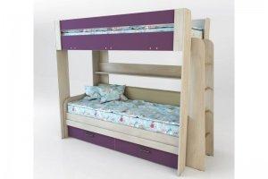 Кровать Спутник 4 Color (двухъярусная) - Мебельная фабрика «Мастер Дом»