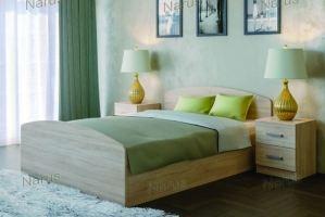 Кровать светлая ЛДСП - Мебельная фабрика «НАРУС»