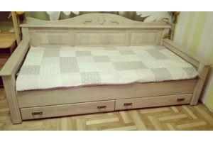Кровать-тахта из массива дуба - Мебельная фабрика «Эксклюзив-Пинск»