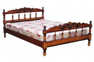 Кровать Точенка резьба - Мебельная фабрика «Святогор Мебель»