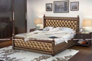 Кровать Триумф каретная стяжка - Мебельная фабрика «СВ-стиль»