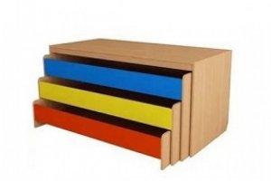 Кровать-тумба трехъярусная детская - Мебельная фабрика «Alicio»