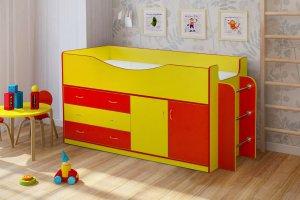 Кровать в детскую комнату Радуга-6 - Мебельная фабрика «Уютный Дом»