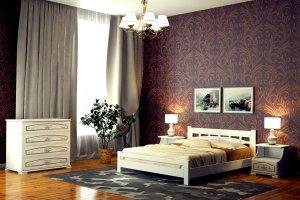Кровать в спальню Ялта - Мебельная фабрика «DM- darinamebel»