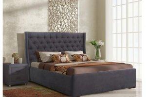 Кровать темная Валенсия - Мебельная фабрика «ИЛ МЕБЕЛЬ»