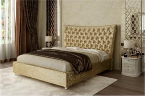 Кровать Валенсия с высоким изголовьем - Мебельная фабрика «Интерика»