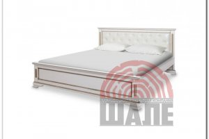 Кровать Вайона белая с золотом - Мебельная фабрика «ВМК-Шале»