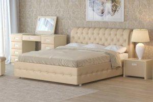 Кровать Veda 4 экокожа бежевый - Мебельная фабрика «Орматек»