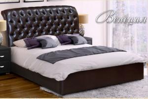 Кровать Венеция со стразами - Мебельная фабрика «Селена»