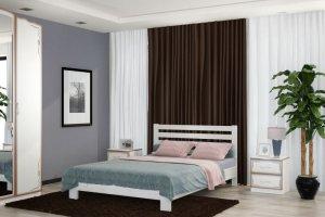 Кровать Вероника из массива сосны - Мебельная фабрика «Bravo Мебель»