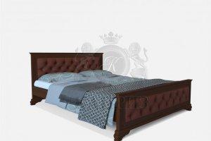 Кровать Виченца 1 с кож.замом - Мебельная фабрика «Каприз»