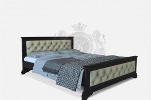 Кровать Виченца 2 с кож.замом - Мебельная фабрика «Каприз»