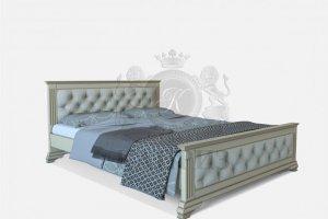Кровать Виченца 3 с кож.замом - Мебельная фабрика «Каприз»