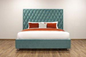 Кровать зеленая Majesty - Мебельная фабрика «Strong»