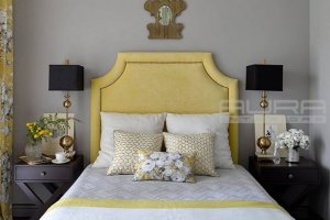 Кровать желтая Аура 98 - Мебельная фабрика «AURA Interiors»