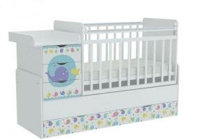 Кроватка детская с комодом Фея 1150 - Мебельная фабрика «TOPOLGROUP»