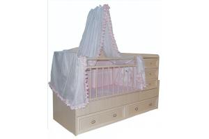 Кроватка для новорожденных Принцесса - Мебельная фабрика «Башмебель-плюс»