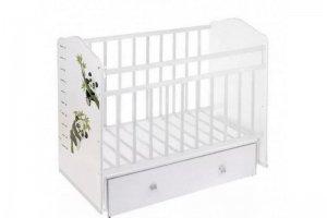 Кроватка Морозко маятник Белый Панда - Мебельная фабрика «AvtoBaby»