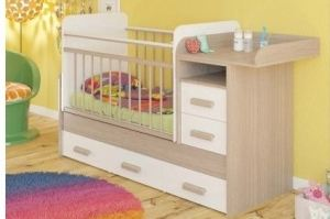 Кроватка Полина-трансформер (маятник) - Мебельная фабрика «Атон-мебель»