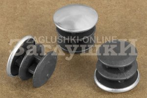 Заглушка круглая хромированная Ø14 мм Артикул 110222552 - Оптовый поставщик комплектующих «Заглушки»