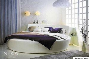 Круглая кровать Бильбао - Мебельная фабрика «NIKA premium»