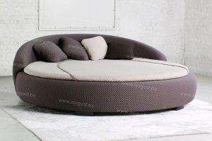 Круглая кровать с мягким изголовьем ARL-002 - Мебельная фабрика «Август»