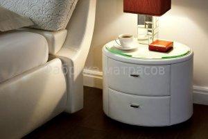 Круглая тумба прикроватная в экокоже Селена - Мебельная фабрика «Аккорд»