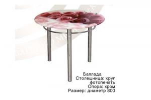 Круглый стол Баллада с фотопечатью - Мебельная фабрика «Ri-Rom»