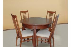 Круглый стол со стульями из бука - Мебельная фабрика «Михельсон и К»
