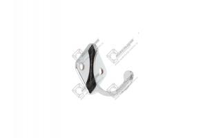 Крючок-вешалка одно-рожковый хром малый - Оптовый поставщик комплектующих «Мебельщик»
