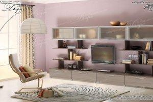 Гостиная Куба-1 - Мебельная фабрика «Дара»