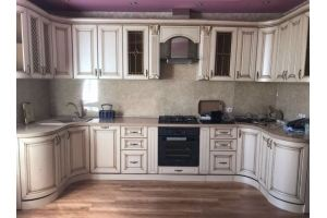 Кухня п-образная радиусная - Мебельная фабрика «Рестайл»