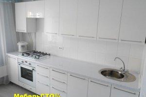 Кухня с фасадом АКРИЛ - Мебельная фабрика «Мебель СТО%»