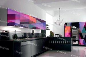 Кухня 1 из лаковых панелей - Мебельная фабрика «Самеко»