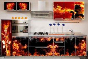 Кухня 18 Фасады МДФ с фотопечатью в алюминиевой рамке - Мебельная фабрика «SaEn»