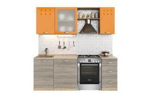 Кухня №26 Бильярд-Модерн Оранж Дуб серый 1.5 - Мебельная фабрика «Кентавр 2000»