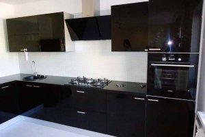 Кухня акрил черный 1uv - Мебельная фабрика «ЮММА»