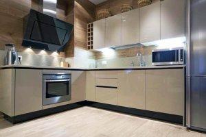 Кухня акрил капучино 5uv - Мебельная фабрика «Вся Мебель»