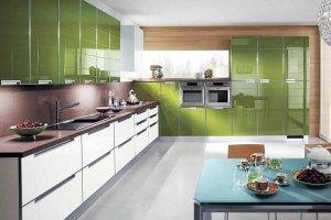 Кухня акрил оливковый солнечный alt17uv - Мебельная фабрика «ЮММА»