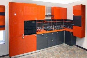 Кухня акрил оранж alt8 - Мебельная фабрика «Вся Мебель»