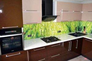 Кухня акрил шоколадный 18uv - Мебельная фабрика «Вся Мебель»