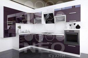 Кухня Акрил сверкающий аметист - Мебельная фабрика «Нео Кухни»