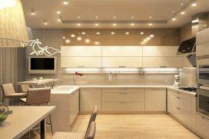 Кухня акрил ваниль alt 4uv - Мебельная фабрика «Вся Мебель»